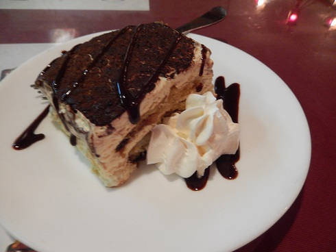 The Tiramisu was delightful, one of the best we have enjoyed