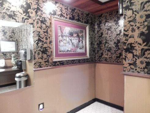 Ramando's Italian Restaurant Bathroom is modern & well-appointed.