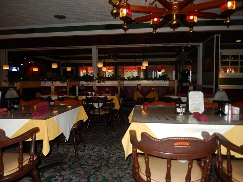 The dining areas inside Ramando's Italian Restaurant